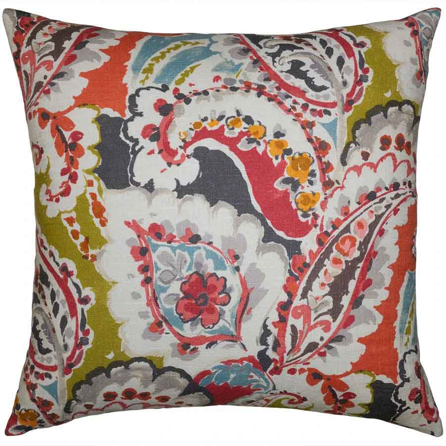 Lantana Floral Pillow Squarefeathers Designer Collection