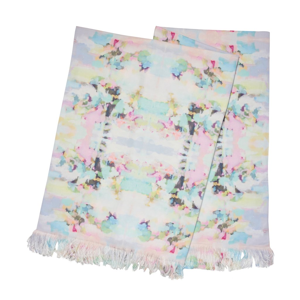 Lemonade Stand Throw Blanket in soft pinks and blues from Laura Park Designs