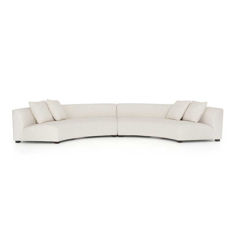 Liam Sectional Sofa in Dover Crescent 2 piece from Four Hands