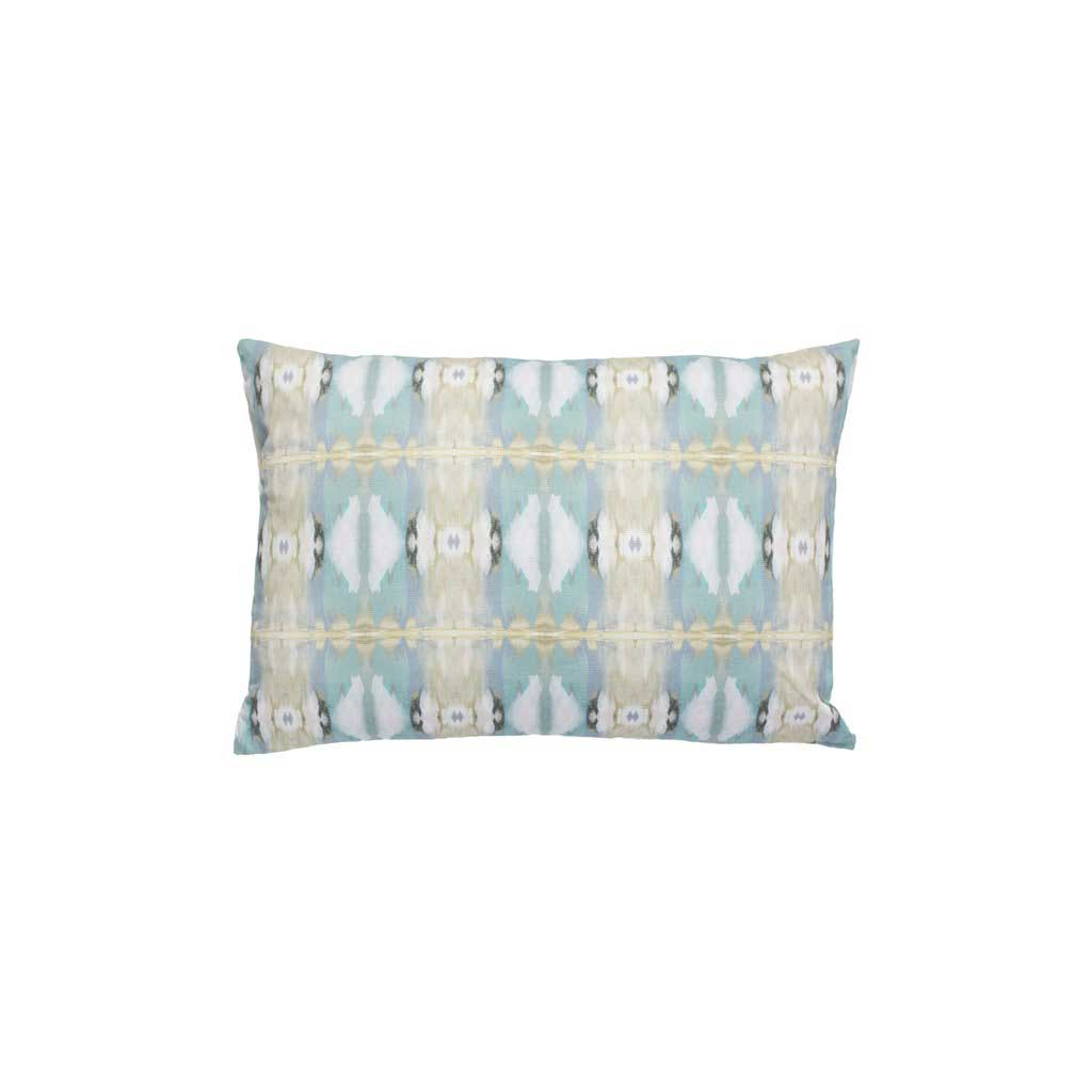 Little Chapel Light Blue Outdoor Lumbar Pillow Laura Park Designs