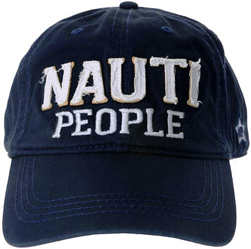 Nauti People blue ball cap with embroidered logo product image