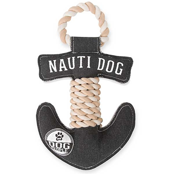 Nauti Dog canvas toy with squeaker made of polyester and cotton