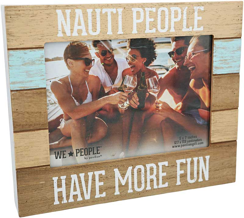 Nauti People photo frame for the water lover 5x7 photo MDF frame