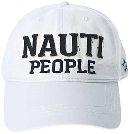 Nauti People white ball cap with embroidered slogan product image