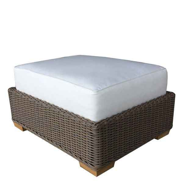 Nautilus Outdoor Ottoman in Kubu weave from Padma's Plantation