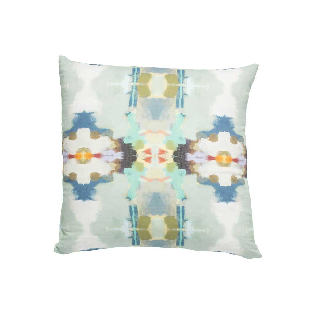 Orchid Blossom Outdoor Pillow Square Royal Blue Laura Park Designs