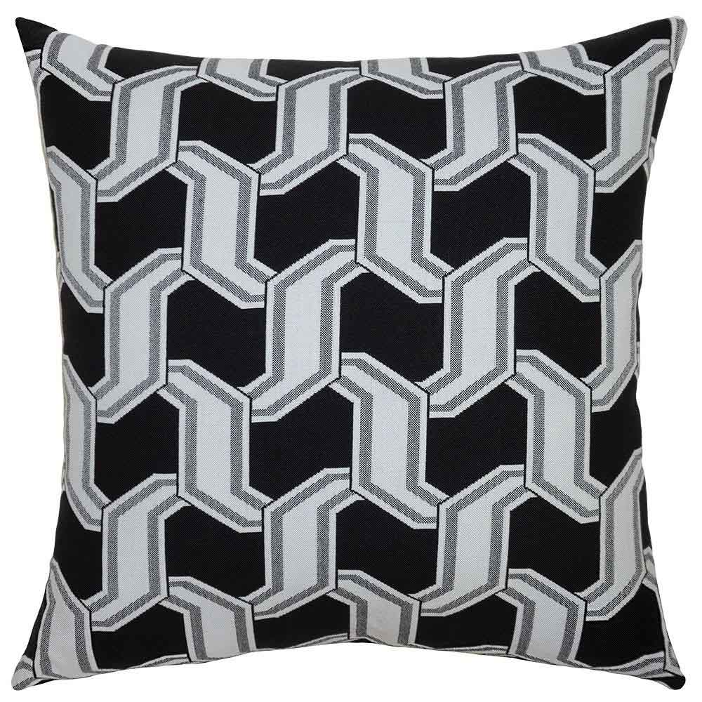 Chain Ebony Outdoor Pillow Squarefeathers