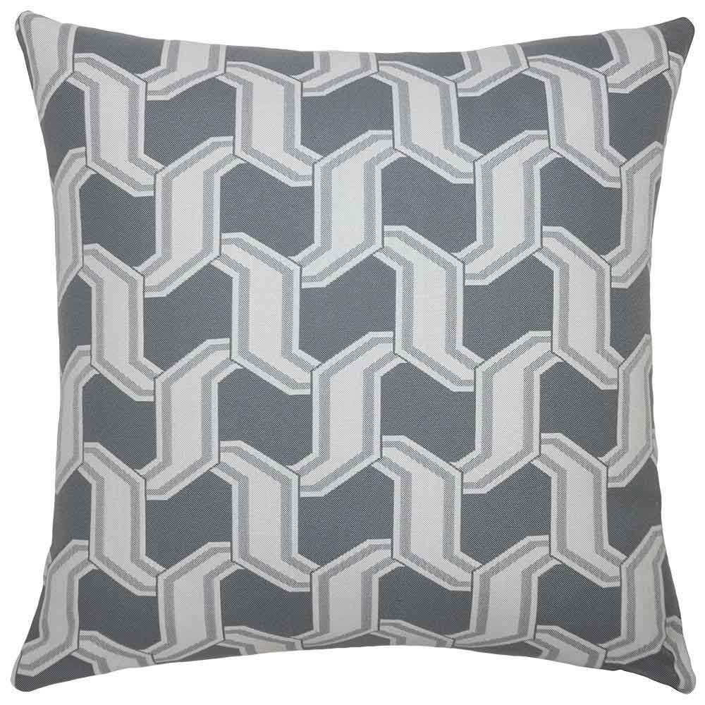 Chain Grey Outdoor Pillow Squarefeathers