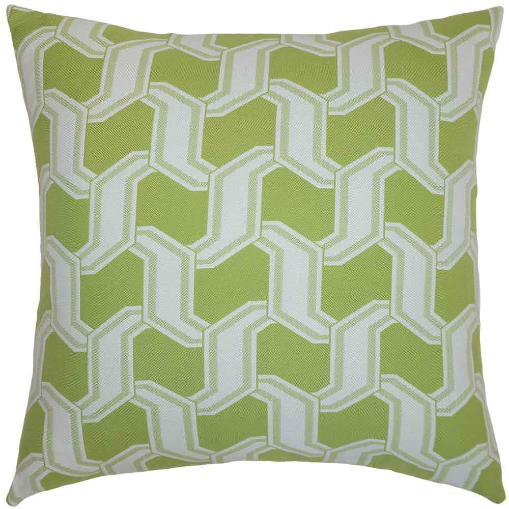 Chain Lime Outdoor Pillow Squarefeathers