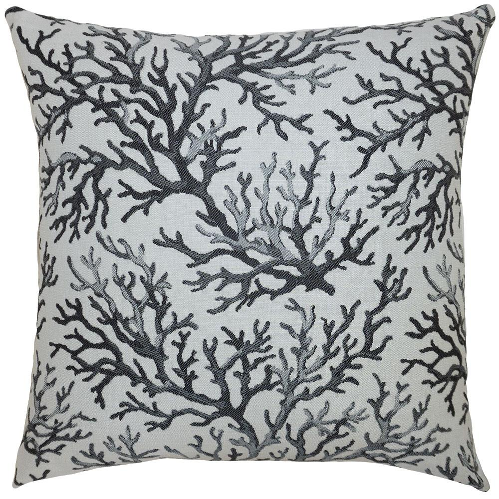 Coral Ebony outdoor pillow from Square Feathers in 5 sizes