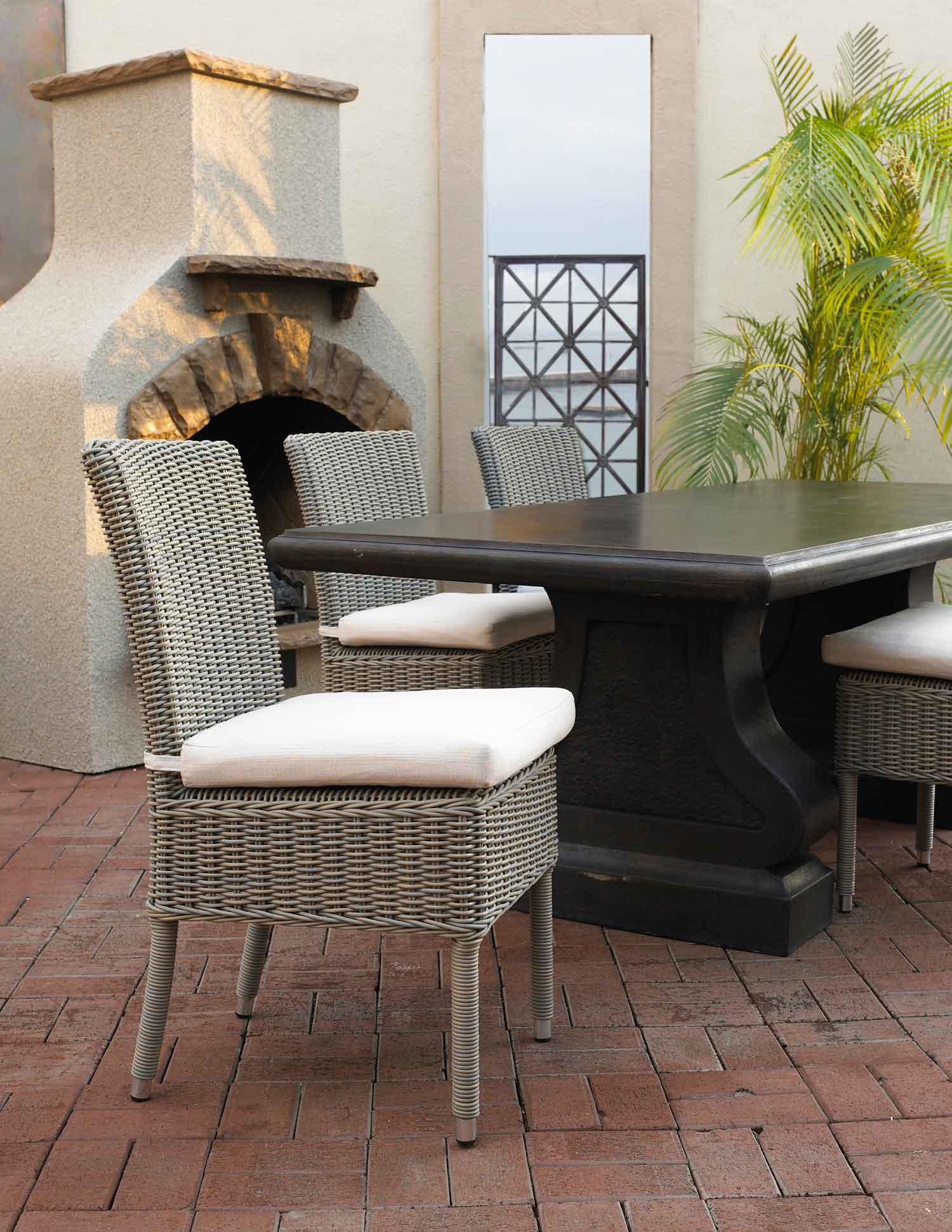 Boca Outdoor Dining Chair Padma's Plantation Lifestyle 1