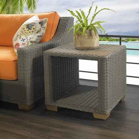 Nautilus Outdoor Side Table Padma's Plantation Lifestyle Image