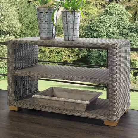 Nautilus Outdoor Console Table Padma's Plantation Lifestyle Image
