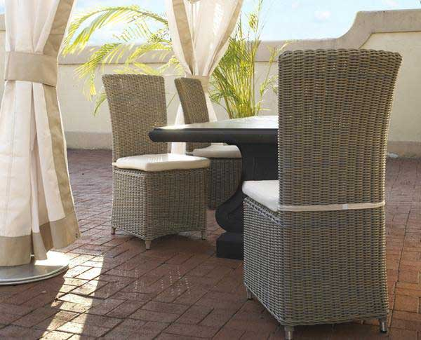 Nico Outdoor Dining Chair Padma's Plantation Lifestyle