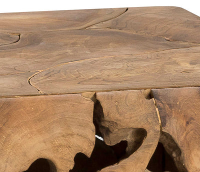 Teak Root End Table Padma's Plantation Top Detail