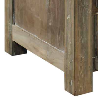 Stockholm Reclaimed Teak End Table Padma's Plantation Base Detail