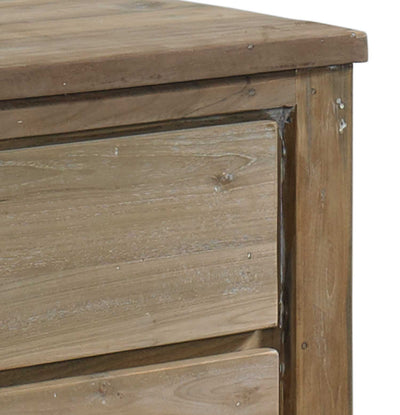 Stockholm Reclaimed Teak End Table Padma's Plantation Drawer Detail