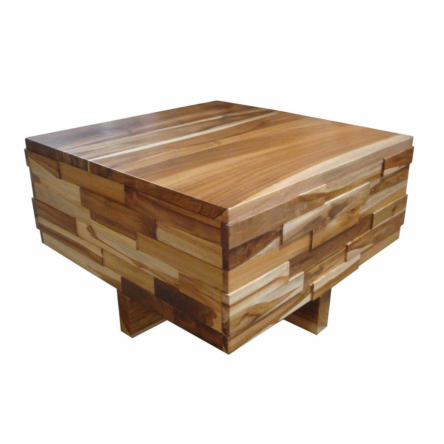 Teak Block Wood Coffee Table Padma's Plantation