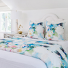 Park Avenue duvet cover in a mix of blues and greens from Laura Park Designs