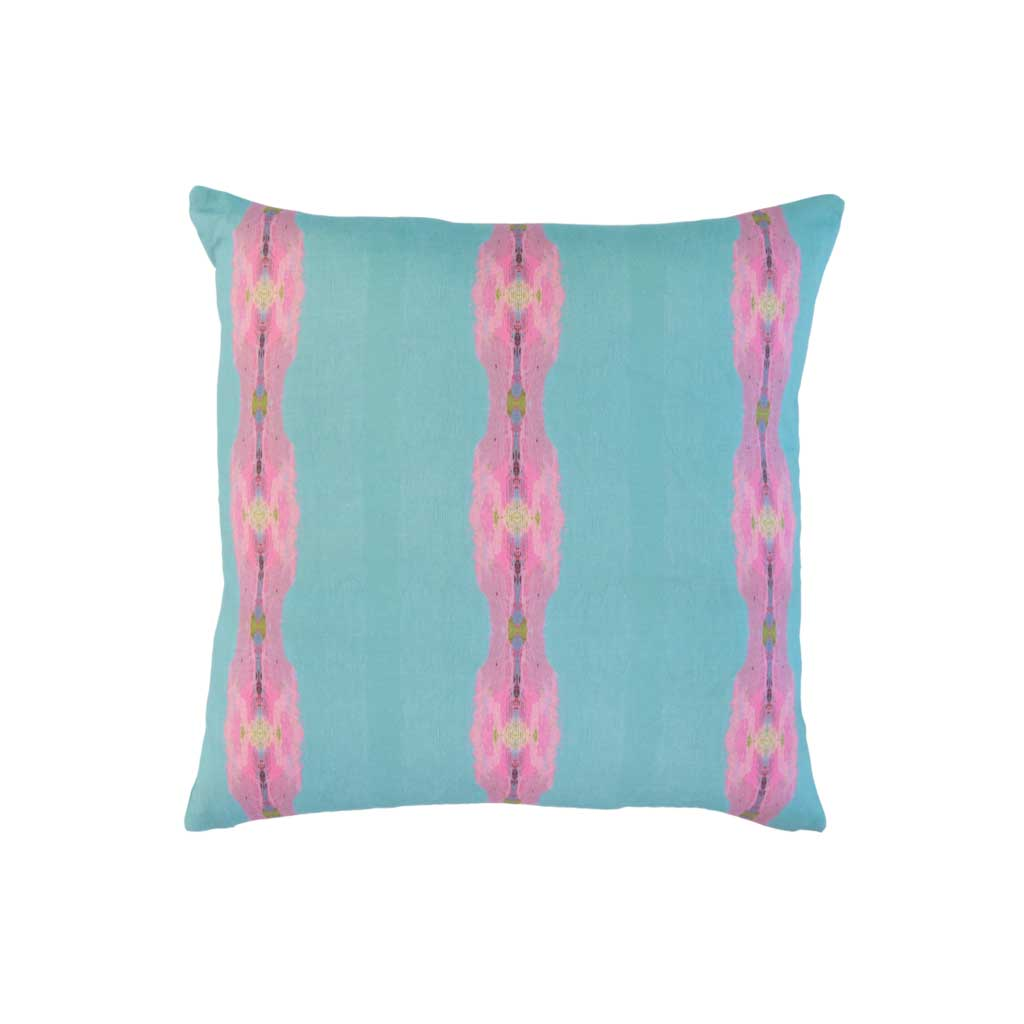 Provence Outdoor Pillow Blue Stripe Square Laura Park Designs