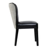 Padmas Plantation Rest Beach Black Eco Leather Dining Chair Side