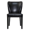 Padmas Plantation Rest Beach Black Eco Leather Dining Chair Front