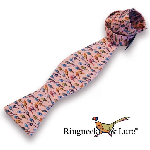 Buoys pattern Ice Pink bow tie from Ringneck & Lure