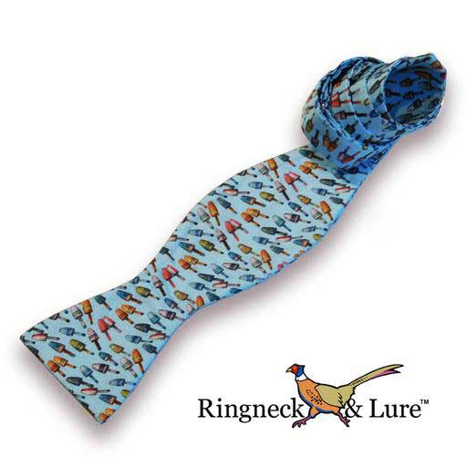 Buoys sky blue self-tie bow tie from Ringneck & Lure