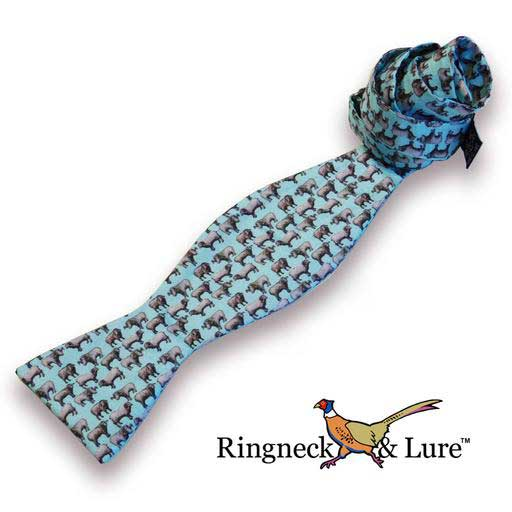 Ram's robin egg blue self tie blow tie from Ringneck & Lure