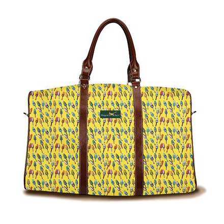 Lobster buoys yellow DayTripper weekender Tote bag from Ringneck & Lure