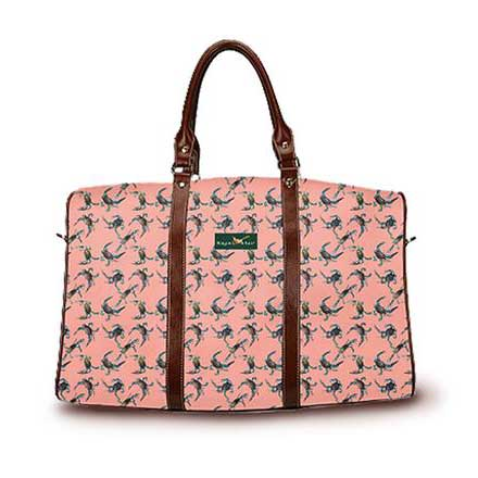 Cast of Crabs DayTripper in salmon color from Ringneck & Lure weekender bag