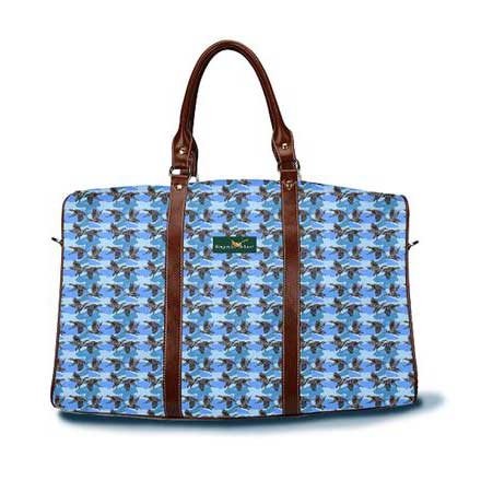 Camo Duck blue DayTripper tote from Ringneck & Lure weekender bag
