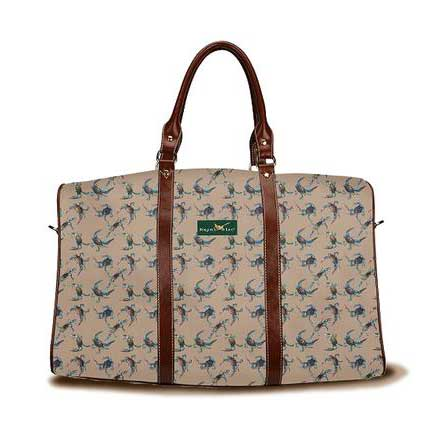 Crabs pattern khaki Daytripper Tote from Ringneck & Lure weekender bag