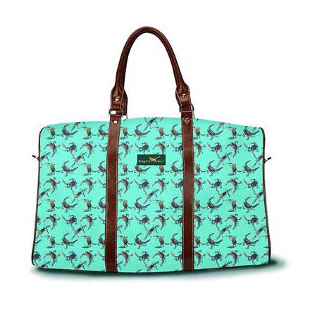 Cast of Crabs DayTripper in sea foam green color from Ringneck & Lure weekender bag