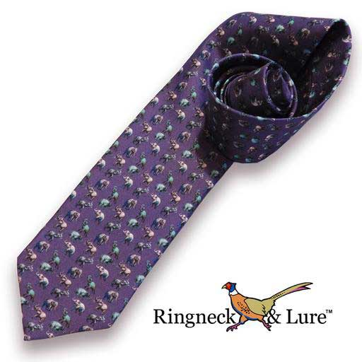 Elephants navy blue necktie from Ringneck & Lure
