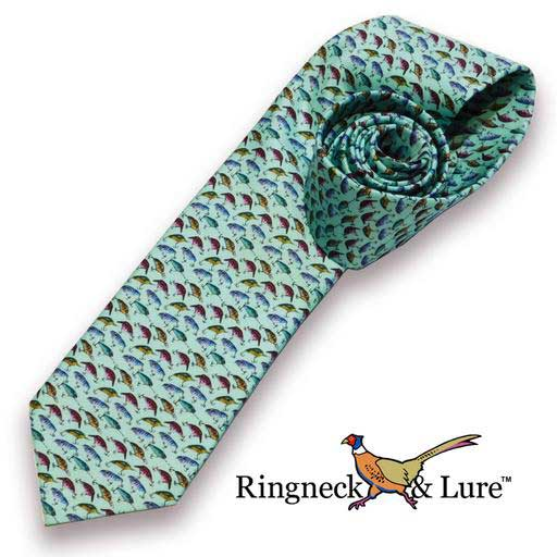 Lake Lures teal colored necktie from Ringneck & Lure