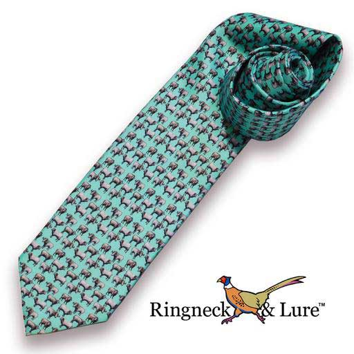 Rams Robin Egg Blue Necktie from Ringneck & Lure