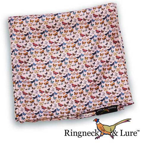 Butterflies light violet pocket square from Ringneck & Lure