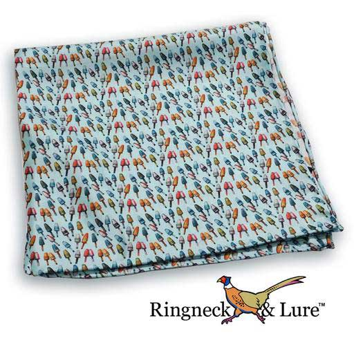Buoys sky blue pocket square from Ringneck & Lure