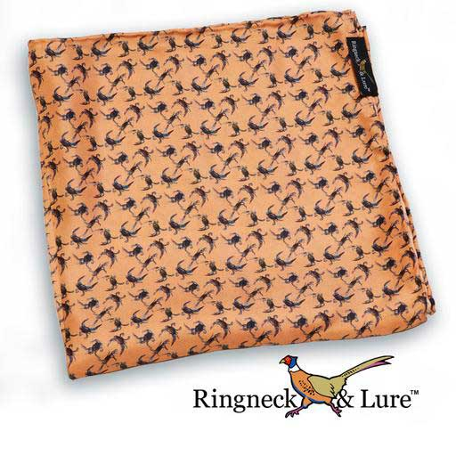Crabs on salmon colored field pocket square from Ringneck & Lure
