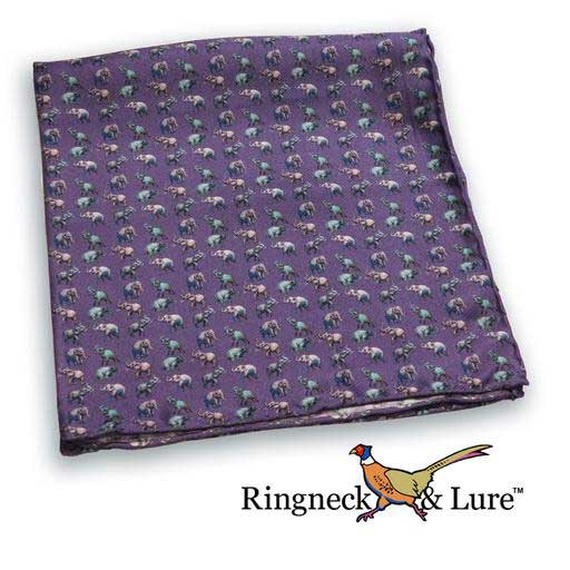 Elephants navy blue pocket square from Ringneck & Lure