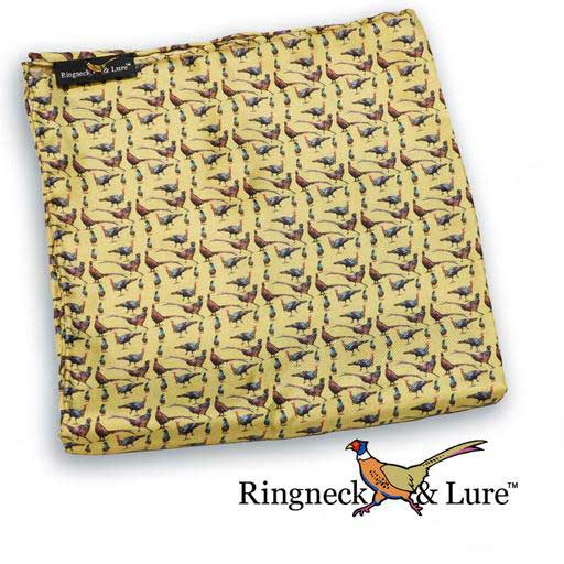 Gamebirds olive-colored pocket square from Ringneck & Lure