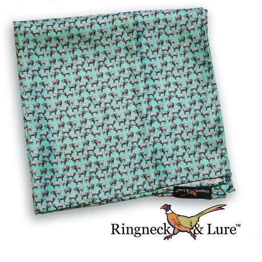 Rams Celadon pocket square from Ringneck & Lure