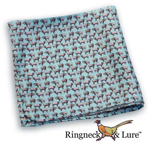 Ram's robin egg blue pocket square from Ringneck & Lure