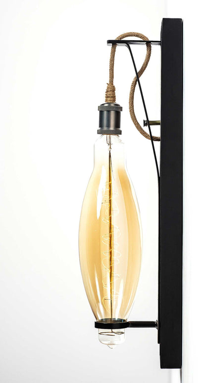 The Row Sconce Large Carrroll by Design Rustic Lighting Side View