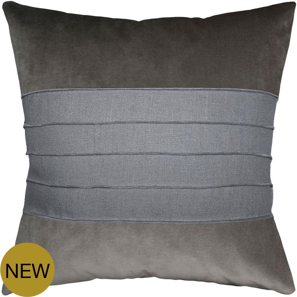 Reese Graphite Grey Cloud pillow from Square Feathers
