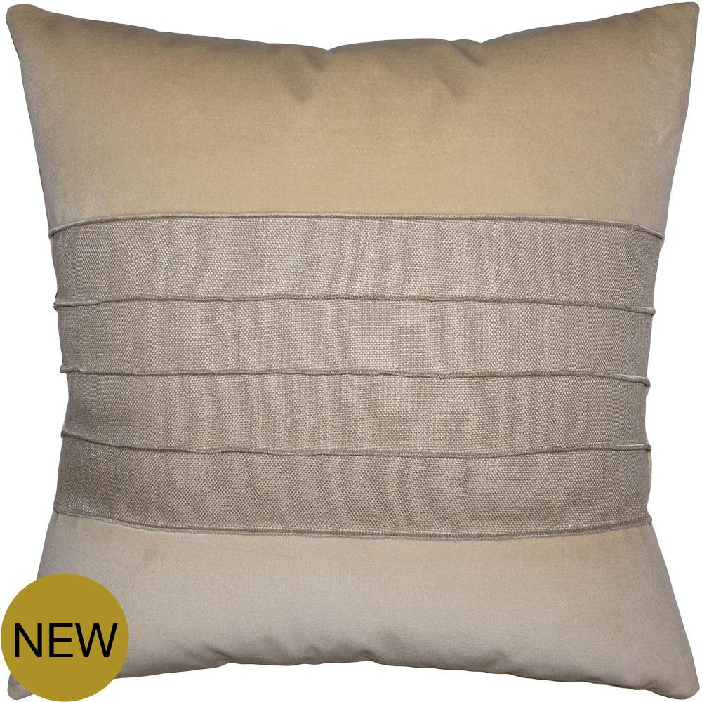 Reese Linen Cement pillow from Square Feathers