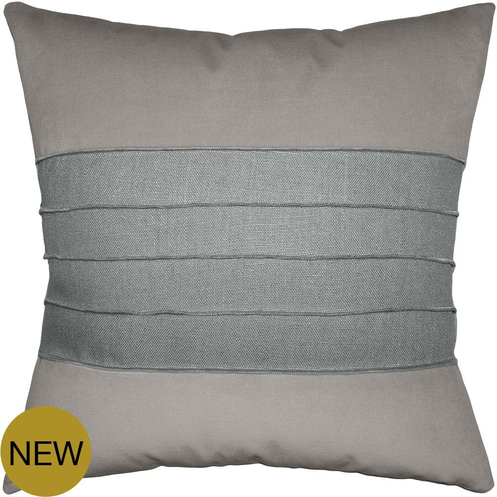 Reese Pewter Sharkskin pillow from Square Feathers