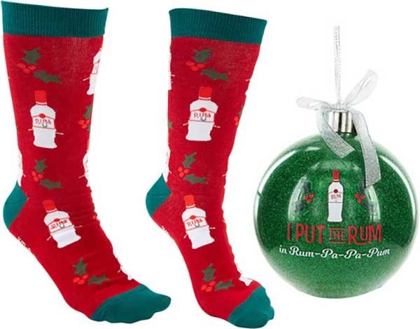 Rum-Pa-Pa-Pum Christmas socks and ornament product image