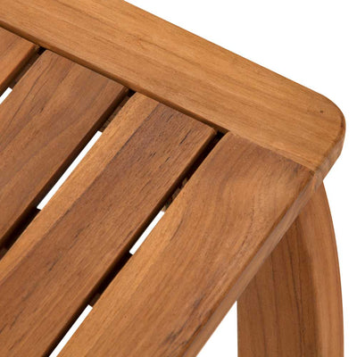 Brooke Shower Stool Teak Close Up